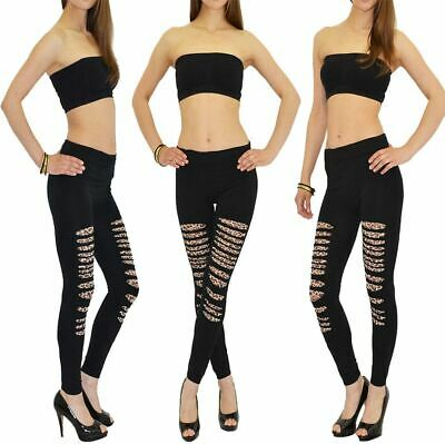 eb8410f45b121 Ladies Cut Out Leopard Zebra Print Pants Ladies Fancy Dress Party Wear  Leggings