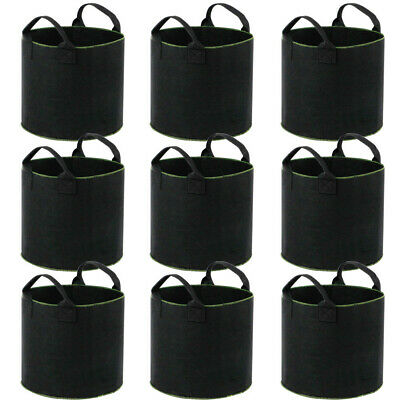 5 Gallons Fabric Grow Bags Pots Garden Planting Grow Bag with Handles 3/6/9 Pack