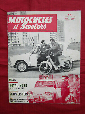 MOTOCYCLES et SCOOTERS : N° 229 juin 1961  skipper Terrot  / cyclo royal nord