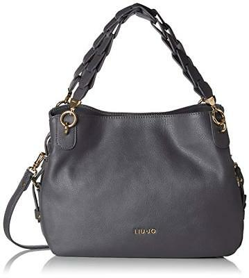 Borsa Liu Jo Barona A68134 Shopping Bag 3Scomparti Grigio Grape Juice Grey  Saldi 94e519231c4