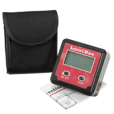 Angle Meter Digital LCD Inclinometer Level Box Protractor Finder Bevel Gauge