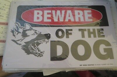 beware of the dog metal sign MAN CAVE brand new