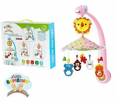 Baby Mobile Bed Bell Kids Crib Musical Mobile Cot Music Box Baby Rattles Toy