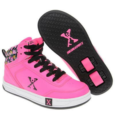 Sidewalk BY HEELYS Hi Top Girls Wheel Skate Shoes UK 5 US 6 EUR 38 CM 24 HE20^