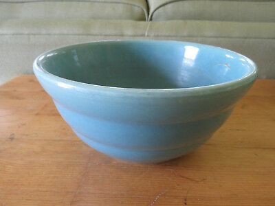 Bauer #24 Blue Mixing bowl beehive ring vintage