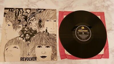 The Beatles Revolver Vinyl LP Record Album 1966 Dr Robert Parlophone PMC 7009