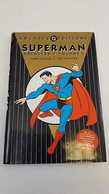 Superman Archives Editions Volume 1 DC Comics 1989 Graphic Novel Hardback