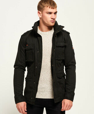New Mens Superdry Rookie Heavy Weather Field Jacket Bitter Black