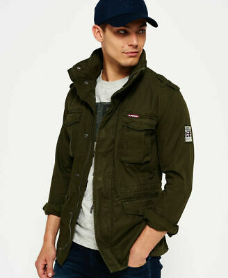 New Mens Superdry Rookie Heavy Weather Field Jacket Dark Khaki