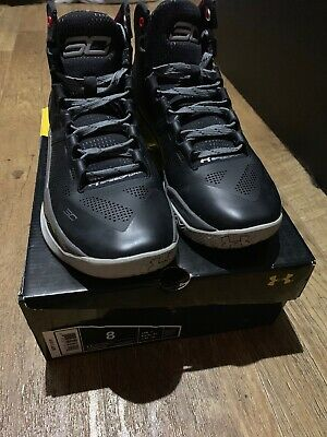 pretty nice 6e818 4adbc Under Armour Curry 2 THE PROFESSIONAL Size 8 UA 1259007-003 Black Steph SC