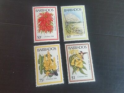 Barbados 1984 Sg 759-762 Christmas.flowers. Mnh (T)