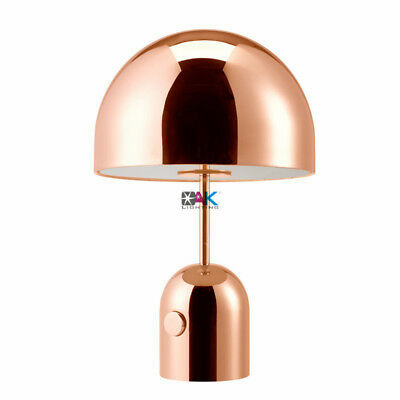 ROSE GOLD MUSHROOM Modern Table Lamp Bedroom Desk Lamp ...