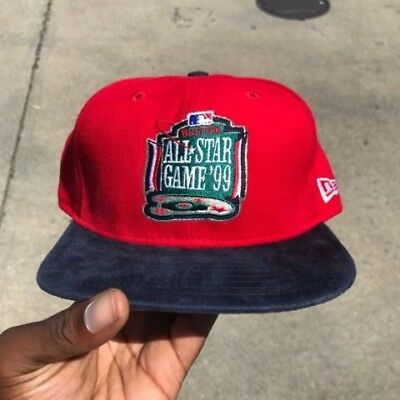 Vintage Boston 1999 All Star MLB Game New Era SnapBack Staff Hat