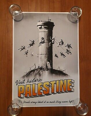 Banksy Walled Off Hotel 100% Original Download edition Poster Visit Palestine