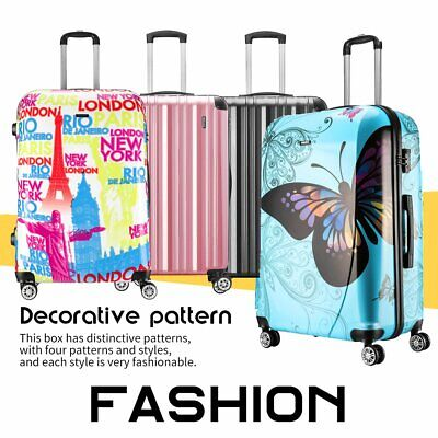Fashion ABS+PC Hard Shell Travel Suitcase Cabin Large Luggage Bag 20 24 28 Inch