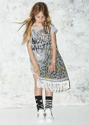 So Twee By Miss Grant Girls Grey Sequin Dress 4 Years