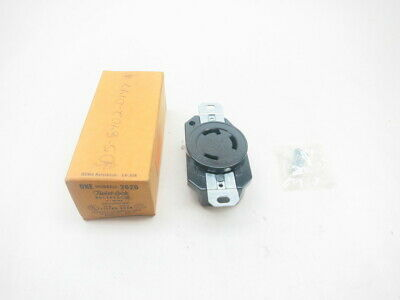 Hubbell 2620 Twist-lock Receptacle 3w 30a Amp 250v-ac
