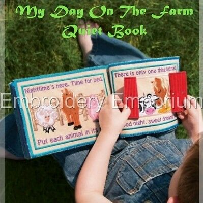 My Day On The Farm Quiet Book Collection -Machine Embroidery Designs On Cd/usb