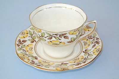 Vintage Queens Rosina Bone China Yellow Rose #4984 Cup & Saucer