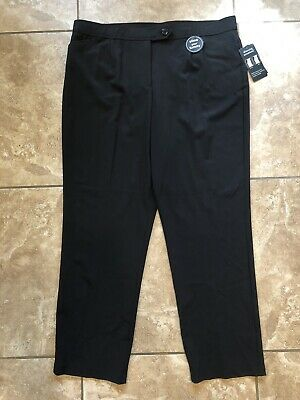 COUNTERPARTS Womens size 20W Slimming Sensations Black Dress Pants Stretch NEW