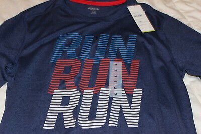9034722a79d3e MENS OLD NAVY Active T Shirt Run Graphic Navy Blue Go Dry NWT Size M ...