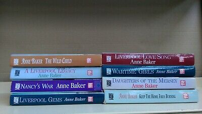 Anne Baker: job lot collection of 8 large print adult fiction books