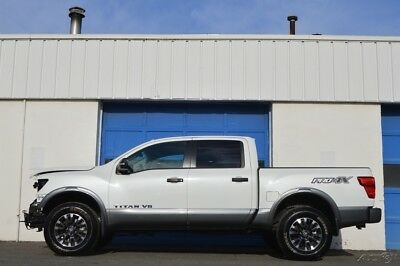 2018 Nissan Titan PRO-4X Repairable Rebuildable Salvage Lot Drives Great Project Builder Fixer Easy Fix