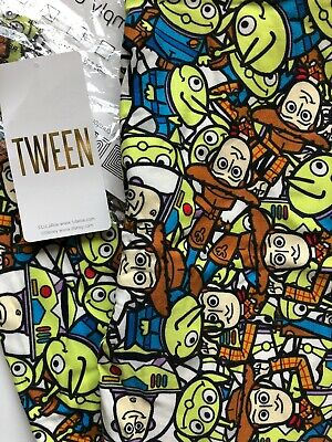 BNWT Lularoe Tween Disney Leggings!/ Toy Story Buzz Woody Aliens Colorful HTF!