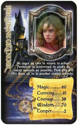 Hermione Granger Harry Potter & The Prisoner Azkaban 2005 Top Trumps Card C2576