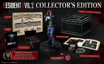 Resident Evil 2 Remake: Collector's Edition XBOX ONE  RARE (With Keys and Badge)