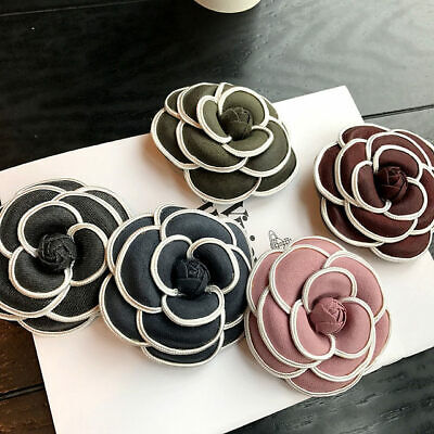1d5122de9 Flower Pin Brooch Cloth Women Lapel Jewelry Brooches Camellia Accessories  Weddin