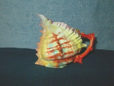 Antique Royal Bayreuth  Large Spiny Conch Sea Shell Jug Milk Pitcher Unmarked