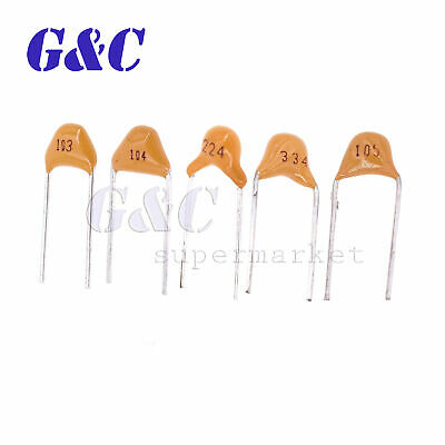 100PCS MULTILAYER MONOLITHIC Ceramic Capacitor 104/50V 0 1uF