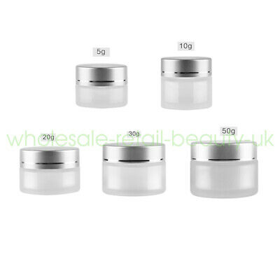 Travel 5/10/20/30/50g Frosted Clear Empty Jars Cosmetic Cream Gel Lip Balm Box