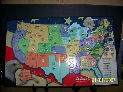 He Harris State Quarter Map Us State Quarter Collectors With 9 - Us-map-for-quarters