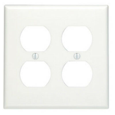 100 Pk Leviton Plastic Almond Round Hole Outlet Wall Plate Cover 000-78004-000