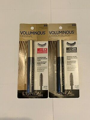 8084db48d41 L'Oreal Paris Voluminous Original Mascara, #315 Black Brown And 335 Carbon  Black