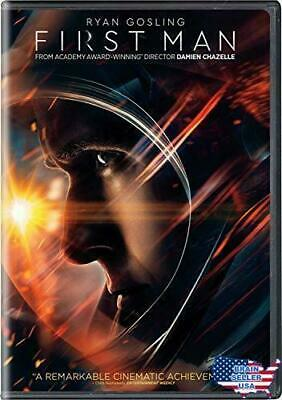 🎬FIRST MAN BRAND - NEW FACTORY SEALED DVD, 2019 W/SLIP COVER {Brand New}🎬