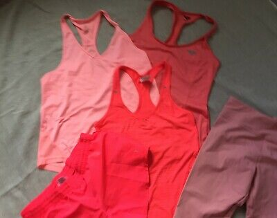 Lot of 5 activewear 3 tops and 2 bottoms Size S