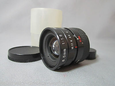 MINT GLASS! COMPUTAR FAST 1.5/8.5MM C-MOUNT LENS for CCTV TV SECURITY CAMERA