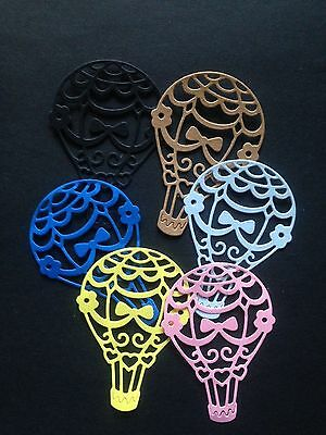 6 Multi- Coloured Air Balloon Diecuts  - great for Cardmaking/Scrapbooking