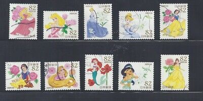 Japan 2015 Disney Characters Complete Used Set of 10 Sc# 3960 a-j 82Y