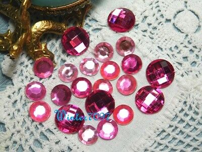 (75)*costume Makers Sellout*flat Back Rhinestones*pinks*round*new!**