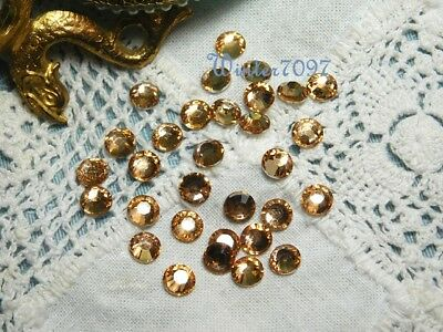 (15A)*costume Makers Sellout**flat Back Rhinestones**rose Gold**round*new!*