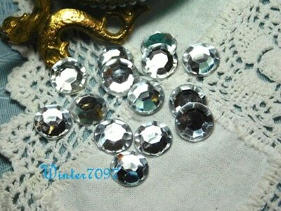 (104)*Costume Makers Sellout**Flat Back Rhinestones**Silver**Round**New!