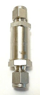 Swagelok Part Number SS-4F-7. 1/4 Inch Tube, 7 Micron Particulate Filter. New.