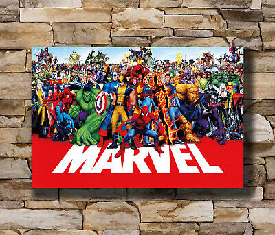 marvel line up poster 2015 Super Heroes Universe marvel-superheroes Poster T-173