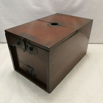 Antique Temple Money Cash Collection Box and Draw Japanese Circa 1890s #886