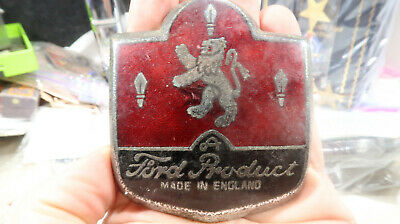 A Ford Product Made in England Car Badge Plaque