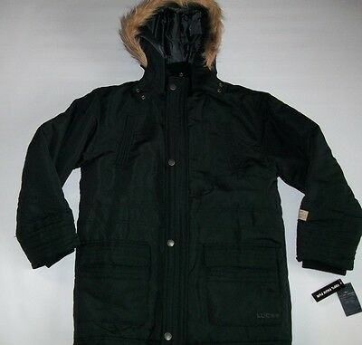 LUCKY Brand WINTER Black Hooded Insulated PARKA JACKET Coat Boys LARGE NEW